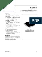 STV6412A AUDIO - VIDEO SWITCH MATRIX.pdf