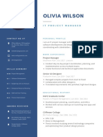 Navy Blue and Black Professional Resume