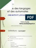 Ch 1 - Mots et Langages