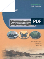 BIODAMAZ _ D.T n° 010 _ Bases biofísicas y propuestas de zonificación y de programas para el Plan Maestro de la Zona Reservada Allpahuayo - Mishana