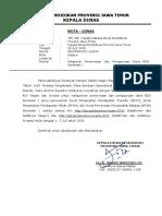 Nota dinas penyusunan SP2T SP2B BOS 2020