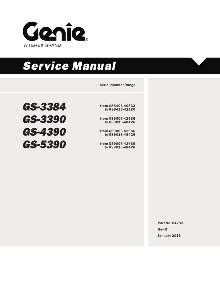 12 genie service manual GS 12   Pump   Valve