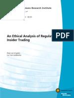 Ethics of Regulating Insider Trading