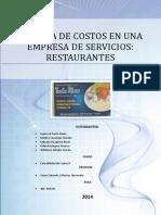 SISTEMA DE COSTOS EN UNA EMPRESA DE SERVICIOS- RESTAURANTES