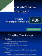 Sampling and Sample Designs