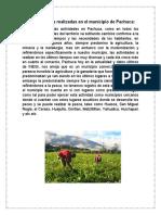 Actividades más realizadas en el municipio de Pachuca