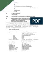 Carta N°01 a Residente - ALLAX Constructora SRL