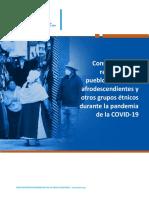 Consideraciones  de la OPS paraPueblos Indigenas  y Afrodescendientes ante el Covid 19