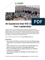 40 Questions that Will Challenge Your Leadership from The Military Leader