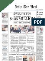 The Daily Tar Heel for January 14, 2011