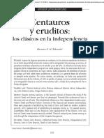 Centauros y eruditos los clásicos en la Independencia
