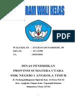 PROGRAM KERJA WALI KELAS