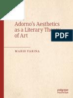 Adorno's Aesthetics as a Literary Theory of Art Mario Farina