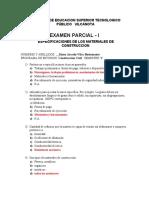 1er Examen Especificaciones (1)