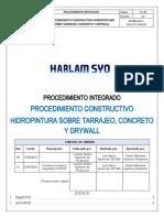 Hidropintura sobre tarrajeo, concreto y Drywall