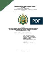 Tala indiscriminada de especies forestales en MDD