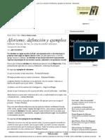 ¿Qué es un aforismo_ Definición y ejemplos de aforismos - Estandarte