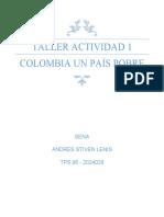 Taller Actividad 1 Colombia un país pobre (Andres Stiven Lenis).docx