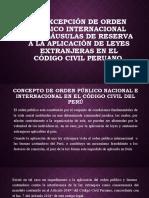 LA EXCEPCION DE ORDEN PUBLICO INTERNACIONAL (1)