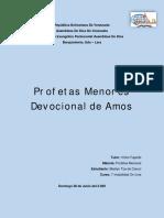 Devocional acerca de la vida del Profeta Amos y su mensaje