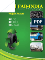 Manufacturer Of Waste Tyre Recycling Plant Project Report