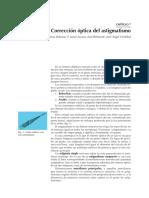Corrección óptica del astigmatismo