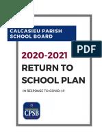 CPSB 2020-2021 Return to School Plan