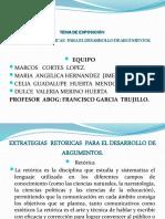 EXTRATEGIAS  RETORICAS PARA EL DESARROLLO DE ARGUMENTOS.pptx