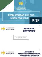 Análisis y perfeccionamiento del modelo de calidad.