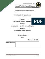 Metodo Simplex ejemplo e investigacion Juan Suaste
