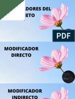 MODIFICADORES DEL SUJETO