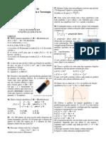 Lista Exercicios Função quadrática