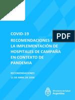 Recomendaciones Para Implementación en Hospitales
