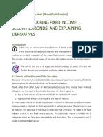 UNIT 4 - Describing fixed income securities (bonds) and derivatives
