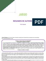 JUEGO- Resumen de Autores
