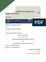 Les accords de Bâle et la gestion des risques bancaires