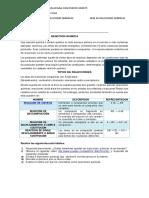 TALLER TIPOS DE REACCION