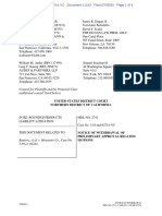 RoundUp MDL - Plaintiff Counsel's Notice of Motion to Withdraw Class Action Settlement Plan