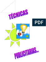 TECNICAS DE PUBLICIDAD