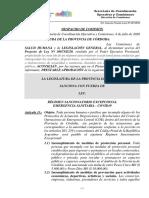 Despacho Proyecto de Ley 30673 (Régimen Sancionatorio Por Violación a Protocolos COE)