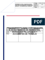 SSMA-PRO-003 Comunicación e investigación de incidentes, incidentes peligrosos y accidentes de trabajo