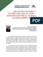 ESTUDIO DE LA GUERRA PERÚ-COLOMBIA