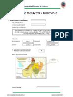 Ficha de Impacto Ambiental Huayllabamba