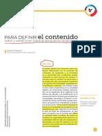 Feldman, Daniel. Para Definir El Contenido