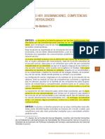 Martín - Barbero, J. Saberes Hoy Diseminaciones, Competencias y Transversalidades.
