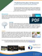 NeuroTracker Published Studies & Research (Medical v1), July 20, 2016