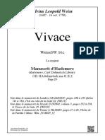 WeissSW16 Vivace Weiss La majeur (Le manuscrit d Haslemere)