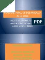 PLAN DISTRITAL DE DESARROLLO PRESENTACION