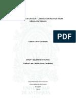 Incorporacion de la ética y la educación política en las ciencias naturales