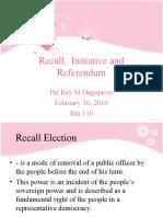 Recall, initiative and Referendum